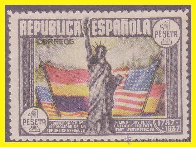 1938 CL ANIVERSARIO CONSTITUCIÓN EEUU, EDIFIL Nº 763 * (Sellos - España - II República de 1.931 a 1.939 - Nuevos)