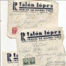 Sellos: UTIEL (VALENCIA) - LOTE 3 CARTAS CIRCULADAS R. TALÓN LÓPEZ TEJIDOS Y PAQUETERÍA AÑOS 1934-35. Lote 42375957