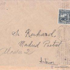 Sellos: SOBRE CIRCULADO CORREO INTERIOR. LLEGADA CARTERÍA. 1935. 15 CÉNTIMOS LOPE DE VEGA. Lote 43006761