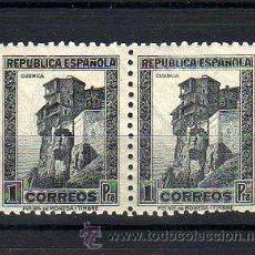 Francobolli: ESPAÑA - MONUMENTOS 1938 - PAREJA 1PTA CUENCA - EDIFIL 770 - NUEVO** MNH. Lote 43228294