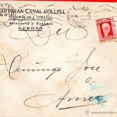 Sellos: . CARTA MARTIRIAN CANAL COLLELL GERONA . Lote 43655982