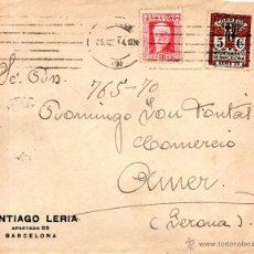 Sellos: . CARTA SANTIAGO LERIA BARCELONA. Lote 43655989