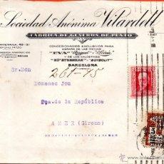Sellos: . CARTA SOCIEDAD ANONIMA VILARDELL BARCELONA . Lote 43656029