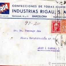 Sellos: . CARTA INDUSTRIAS RIGAU BARCELONA . Lote 43656033