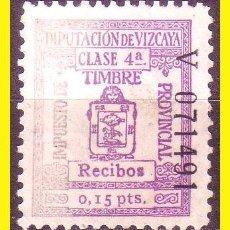 Sellos: FISCALES 1932 DIPUTACION DE VIZCAYA ALEMANY Nº 169 (O). Lote 44264330