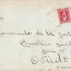 Sellos: SOBRE A OVIEDO (ASTURIAS). 30 CTS. PABLO IGLESIAS. 1933. Lote 44576751