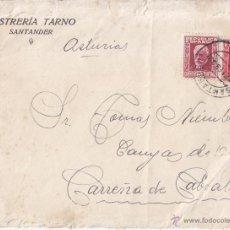 Timbres: SOBRE. 1933. PABLO IGLESIAS 25 Y 30 CTS. SANTANDER. A ASTURIAS. Lote 44984660