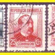 Sellos: 1933 PERSONAJES, EDIFIL Nº 681 A 688 (O) SERIE COMPLETA. Lote 45770293