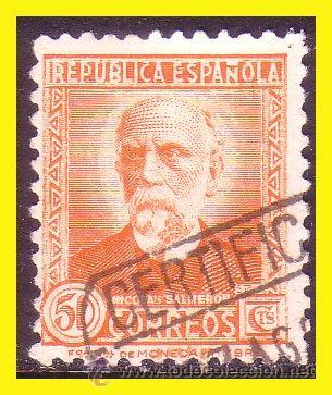 1932 PERSONAJES, EDIFIL Nº 661 (O) CLAVE (Sellos - España - II República de 1.931 a 1.939 - Usados)