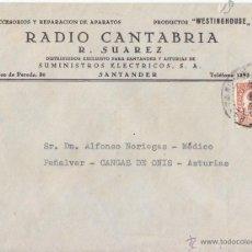 Sellos: SOBRE MEMBRETE RADIO CANTABRIA. 1936. SANTANDER. 2 CÉNTIMOS. IMPRESOS. CIRCULADA A ASTURIAS. Lote 45878425