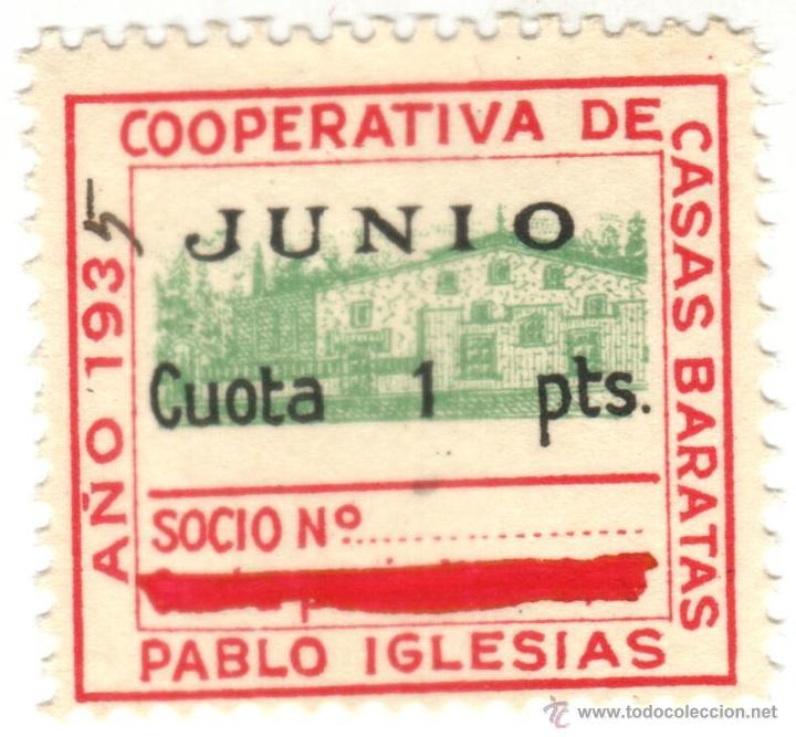 sello cuota 1 pts junio 1935. cooperativa de ca - Comprar Sellos ...