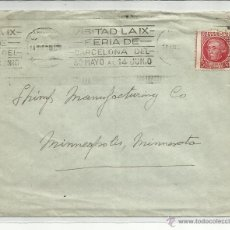 Francobolli: CIRCULADA A MINNEAPOLIS MINNESOTA USA CON MATASELLO RODILLO FERIA DE BARCELONA. Lote 46676284