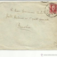 Sellos: CIRCULADA 1934 DE TARRAGONA A BARCELONA MATASELLO LLEGADA. Lote 46715455