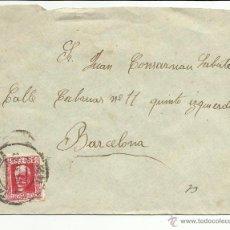 Sellos: CIRCULADA 1934 DE TARRAGONA A BARCELONA. Lote 46715472