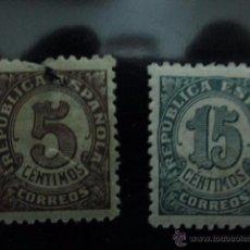 Sellos: REPUBLCA ESPAÑOLA 5 CTS Y 15 CTS.. Lote 48336253