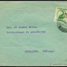 Sellos: *** BONITA CARTA 1934 MADRID-ANTEQUERA (MÁLAGA), FRANQUEO ÚNICO, MAT. MADRID EDIFIL 656 ***. Lote 49903553