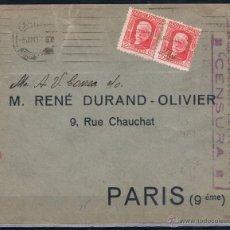 Sellos: 1937.- BARCELONA A PARIS (FRANCIA). Lote 50308033
