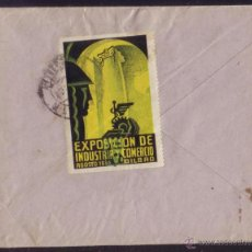 Sellos: ESPAÑA. (CAT. 659 + VIÑETA). 1934. SOBRE DE VENTANA DE BILBAO. 30 CTS. MAT. RODILLO. DORSO VIÑETA.RR. Lote 50632214