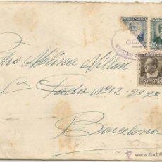 Sellos: 1937 - SOBRE DIRIGIDO DESDE VEDADO DE ZUMA A BARECELONA - ESPAÑA. Lote 50661221