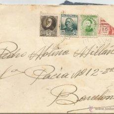 Sellos: 1937 - SOBRE DIRIGIDO A BARCELONA - ESPAÑA. Lote 50661285