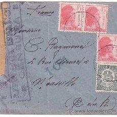 Timbres: F6-38-CARTA GUERRA CIVIL CORREO CAMPAÑA SANITAT- DIVISIÓ 55 A FRANCIA 1938. Lote 50765598