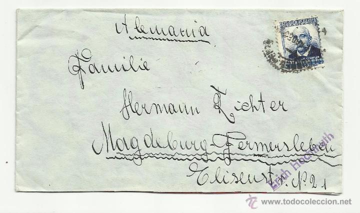 CIRCULADA 1936 DE MADRID A MAGDEBURGO (Sellos - España - II República de 1.931 a 1.939 - Cartas)