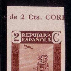 Sellos: CL3-3-PRENSA REPUBLICA 2 CTS AEREO SIN DENTAR. SIN FIJASELLOS ** LUJO.MARQUILLADO. Lote 51111970