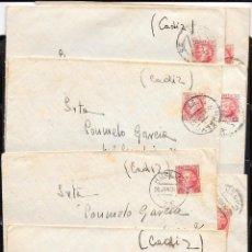 Sellos - España. Lote de 9 cartas circuladas de Huelva a San Fernando - 51599950