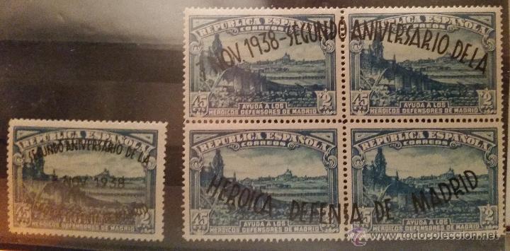 1938. II ANIVERSARIO DE LA DEFENSA DE MADRID. EDIFIL 789/790 (Sellos - España - II República de 1.931 a 1.939 - Nuevos)