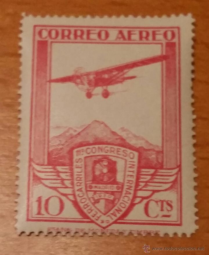 1930 XI CONGRESO INTERNACIONAL DE FERROCARRILES (CORREO AÉREO).EDIFIL 484. NUEVO SIN CHARNELA. (Sellos - España - II República de 1.931 a 1.939 - Nuevos)