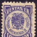 Sellos: ESPAÑA. FISCAL. VENTAS EN COMISIÓN/COMPAÑIA ARRENDATARIA DE TABACOS. RARO.. Lote 52428185