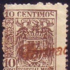 Sellos: ESPAÑA. FISCAL. ESPECIAL MÓVIL. 10 CTS. ANULADO CON MARCA DE FARMACIA. BONITO.. Lote 52428602