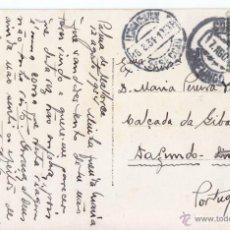 Sellos: POSTAL DE PALMA DE MALLORCA A PORTUGAL. 1934. SELLO ESPAÑOL CON MATASELLOS PORTUGUÉS. BALEARES. Lote 52672444