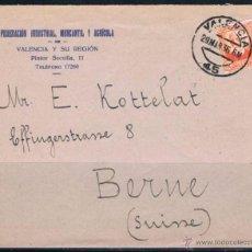 Sellos: 1936.- VALENCIA A SUIZA. Lote 52841152