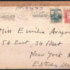 Sellos: 1937.- VALENCIA A N.YORK (EEUU). Lote 52841723