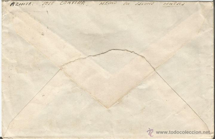 Sellos: ESPAÑA - REPUBLICA HISTORIA POSTAL. 1936 - 1938 CARTA DIRIGIDA DE HUESCA A BARCELONA - Foto 2 - 52843362
