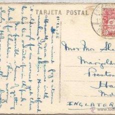 Sellos: II REPUBLICA TP SEVILLA CON SELLO EXPEDICION AL AMAZONAS Y MAT ESTAFETA ALCANCE SEVILLA 1935. Lote 53786687
