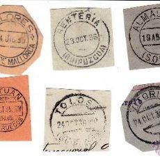 Sellos: 8 FRAGMENTOS CON MATASELLOS SIN SELLOS DE LOS AÑOS 1935 Y 36. UNO DE TETUÁN, PROTECTORADO ESPAÑOL.. Lote 53861681