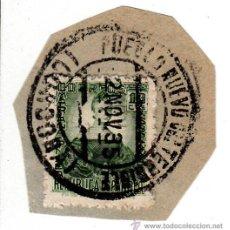 Sellos: S/FRAGMENTO EDIFIL 682. MATº PUEBLO NUEVO DEL TERRIBLE (CORDOBA). 2 NOV. 35,. Lote 53869508