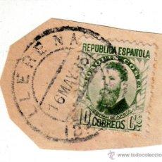 Sellos: S/FRAGMENTO EDIFIL 656. MATº LLERENA (BADAJOZ). 16 MAY. 35. Lote 53870056