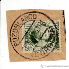 Sellos: S/FRAGMENTO EDIFIL 656. MATº POZOBLANCO (CORDOBA). 26 MAR. 35. Lote 53870100