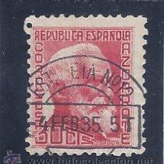 Sellos: EDIFIL 686 PERSONAJES. AZCÁRATE. 1933-1935 . MATASELLOS ESTAFETA Nº 12 DE FECHA 4-FEBRERO-1935.. Lote 53870775