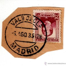 Sellos: S/FRAGMENTO EDIFIL 685 MATº VALS DECLS. MADRID, 6 AGO. 35. Lote 53870865