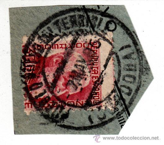 S/FRAGMENTO EDIFIL 686. MATº PUEBLO NUEVO DEL TERRIBLE (CORDOBA). 7 MAY. 35. (Sellos - España - II República de 1.931 a 1.939 - Usados)