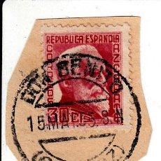 Sellos: S/FRAGMENTO EDIFIL 686. MATº DON BENITO (BADAJOZ). 15 MAY. 35. Lote 53937341