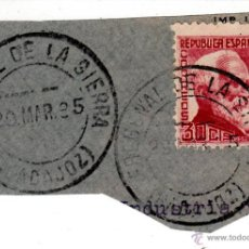 Sellos: S/FRAGMENTO EDIFIL 686. MATº FREGENAL DE LA SIERRA (BADAJOZ). 28 MAR. 35. Lote 53937430