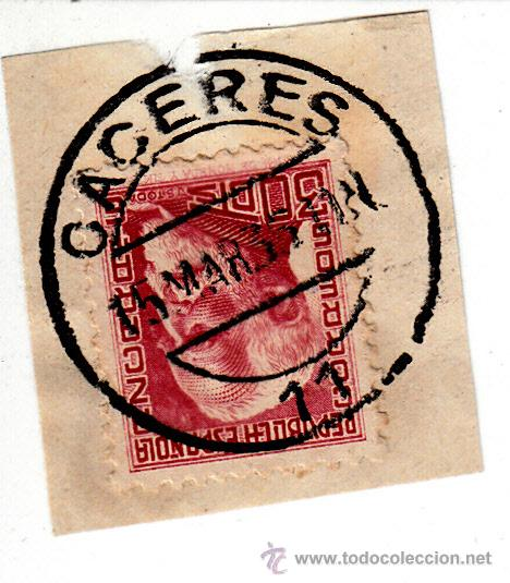 S/FRAGMENTO EDIFIL 686. MATº CACERES 15 MAR. 35 (Sellos - España - II República de 1.931 a 1.939 - Usados)