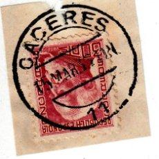 Sellos: S/FRAGMENTO EDIFIL 686. MATº CACERES 15 MAR. 35. Lote 53955337