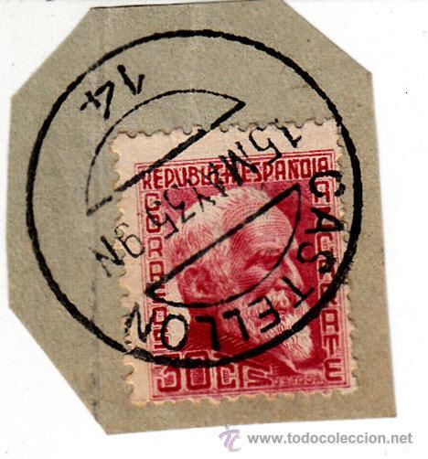 S/FRAGMENTO EDIFIL 686. MATº CASTELLON. 15 MAY. 35 (Sellos - España - II República de 1.931 a 1.939 - Usados)