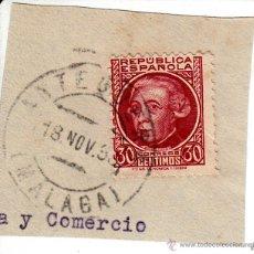 Sellos: S/FRAGMENTO EDIFIL 687. MATº ANTEQUERA (MALAGA). 18 NOV.. 35. Lote 53956487